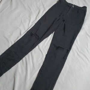 Misguided ripped skinny jeans
